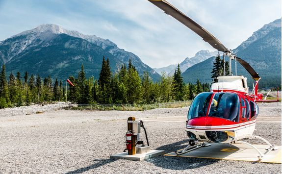 Banff helicopter departure