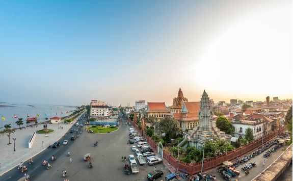 View above Phnom Penh