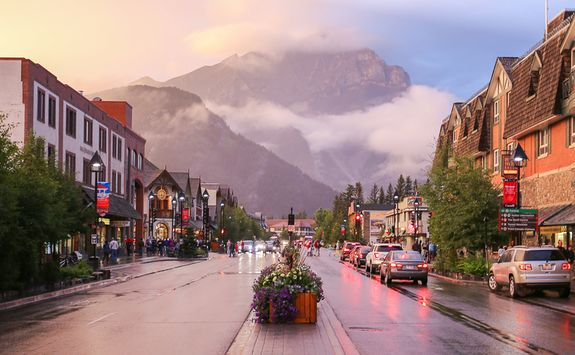 Street in downtown Banff