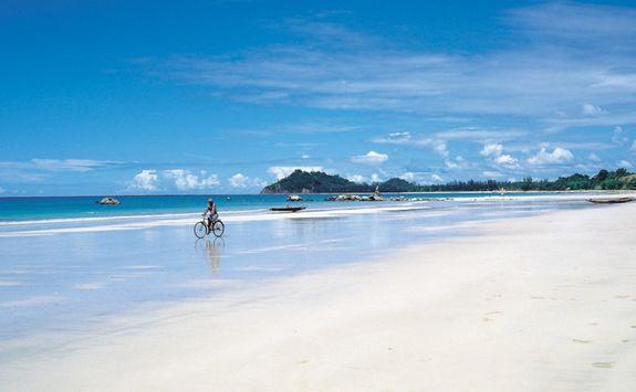 Cycling along Ngapali Beach