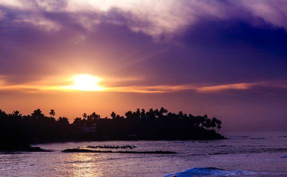 Sunset on a Jamaican beach