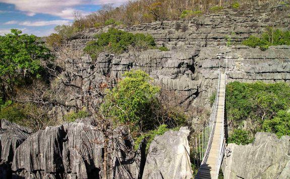 Bridge in Tsingy National Park