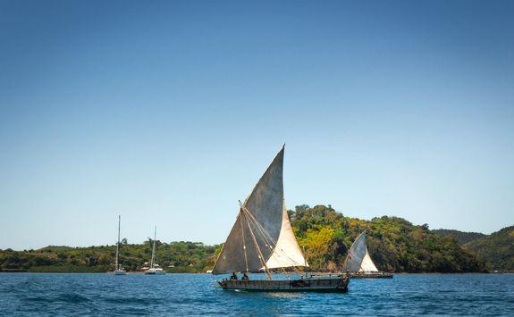 Sailing in Nosy Komba