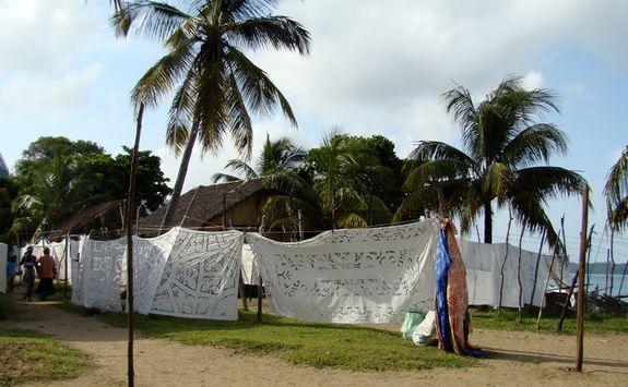 Textiles in a local village