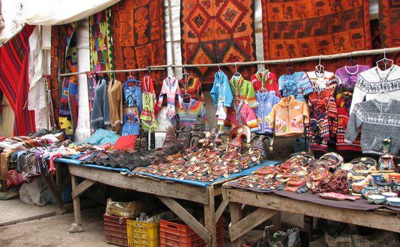 Pisac market stall