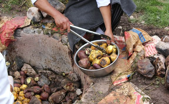 Traditional potato cooking