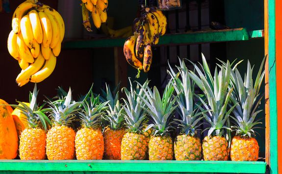 Pineapples in local market