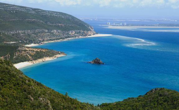View across the Troia Peninsula, Portugal