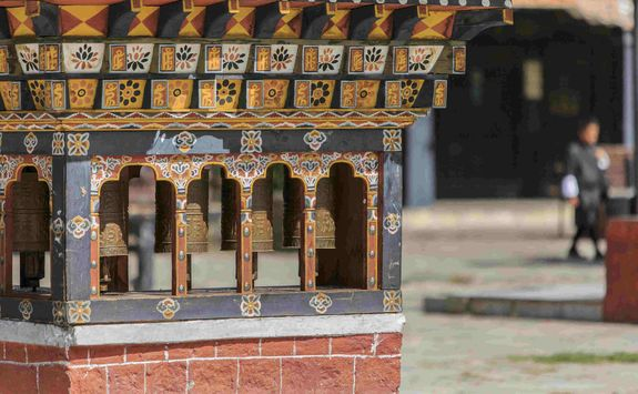 Prayer Wheels in Bhutan