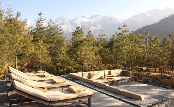 The terrace at Amankora Paro