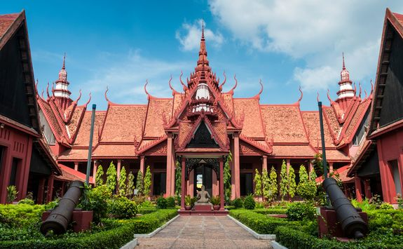 The entrance to the National Museum in Phnom Penh