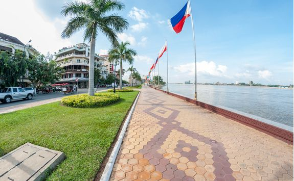 The promenade in Phnom Penh