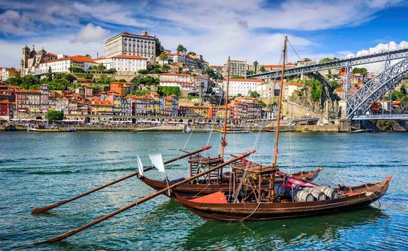 Porto harbour boats