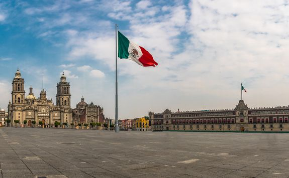 a town square in Mexico City