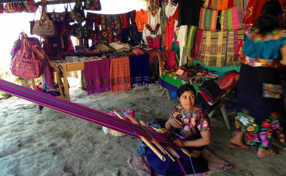 a crafts market in Oaxaca