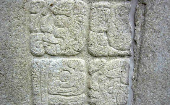 mayan stone carving