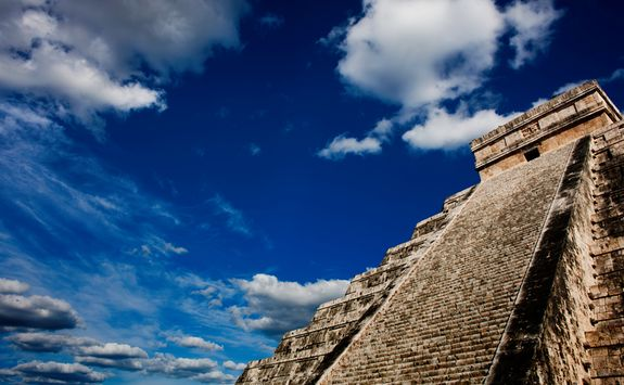 chichen itza in the sun