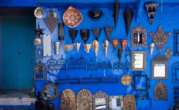 Chedchaouen blue wall
