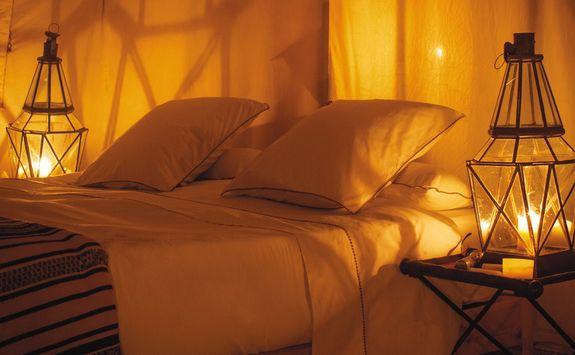 Inside tent at Dar Ahlam