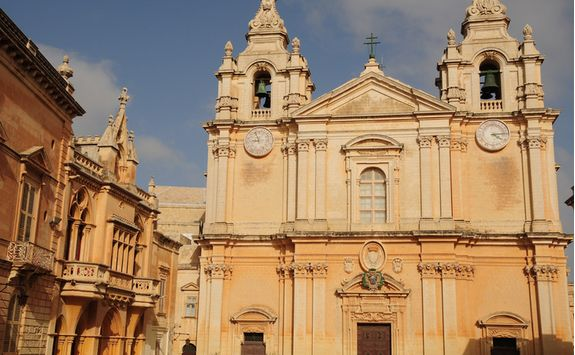 the cathedral in mdina city