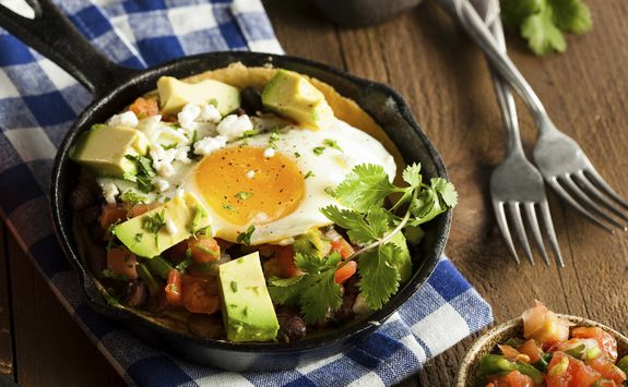 baked mexican eggs