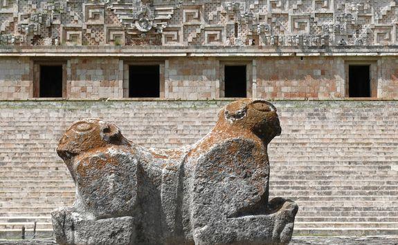 maya statue at Uxmal