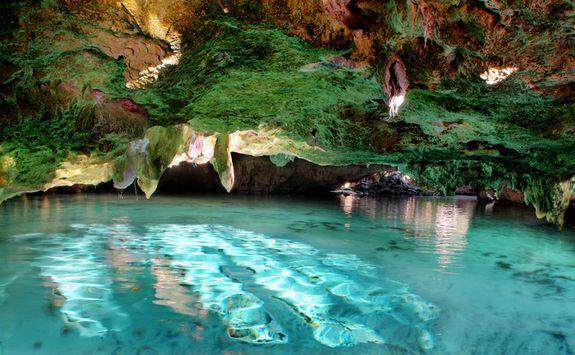 underground cave swimming