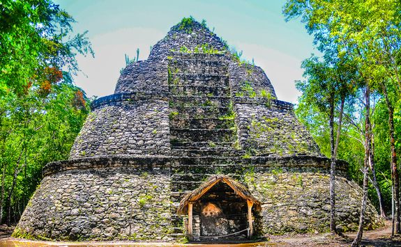 coba ruins in the jungle