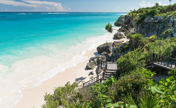 A tropical beach on the Yucatan coast