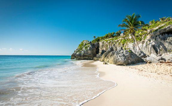 A beach in Tulum