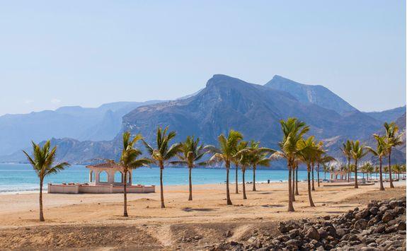 a tropical beach in Salalah