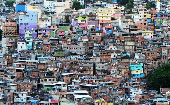 View over favela in Rio