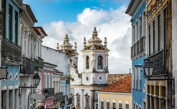 Colourful Salvador building