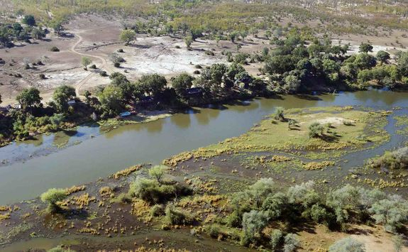 Aerial view of Lower Zambezi