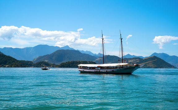Yacht on Angra dos Reis