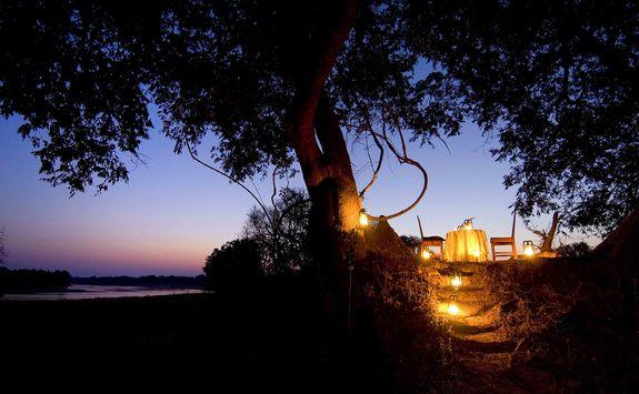 Nsefu Camp at night