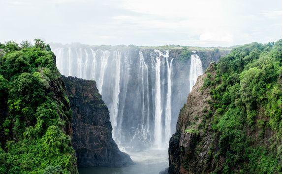 Front of Victoria Falls