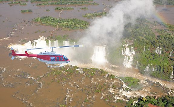 heli tour over the iguazu falls