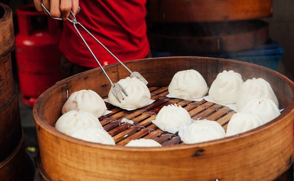Steamed buns in Chinatown