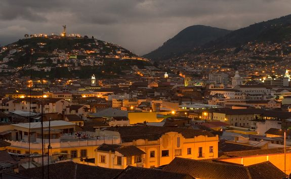 Quito evening cityscape