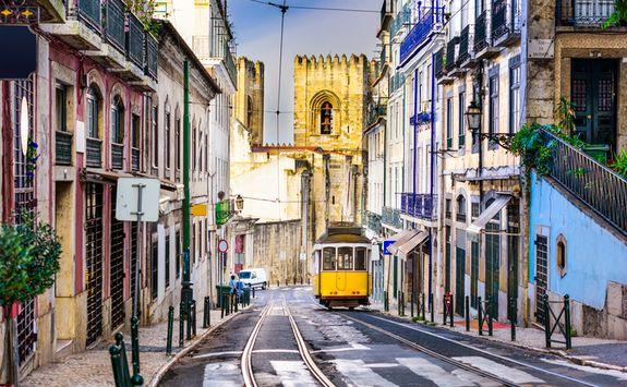 Tram in a Street