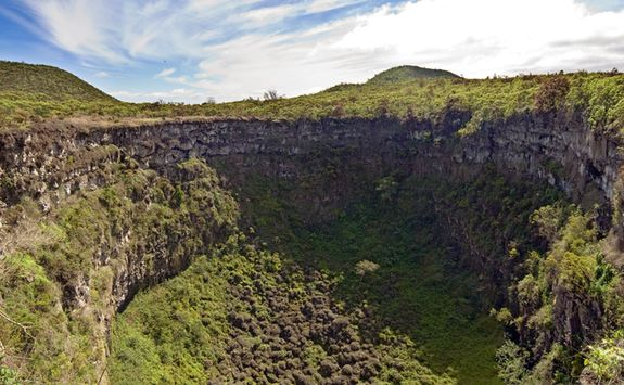 Cerro Mesa Reserve volcano crater