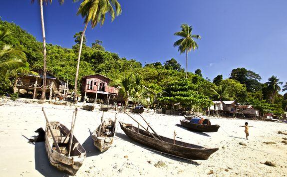 Boats on Mergui Beach