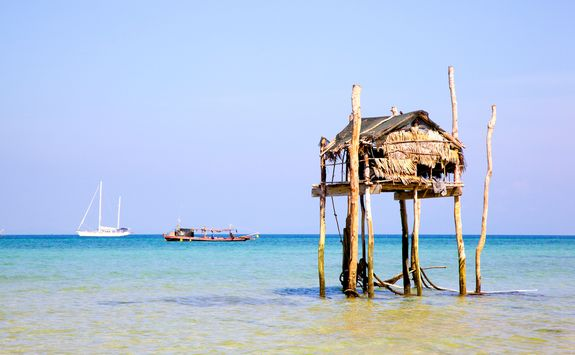 Stilted home in Burma