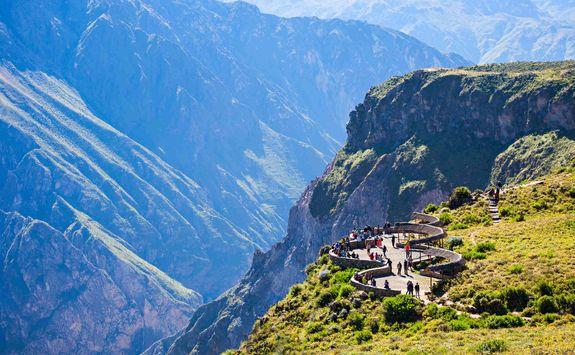 Colca Canyon viewing point