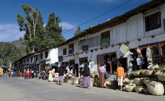 Wangdue Phodrang's bazaar