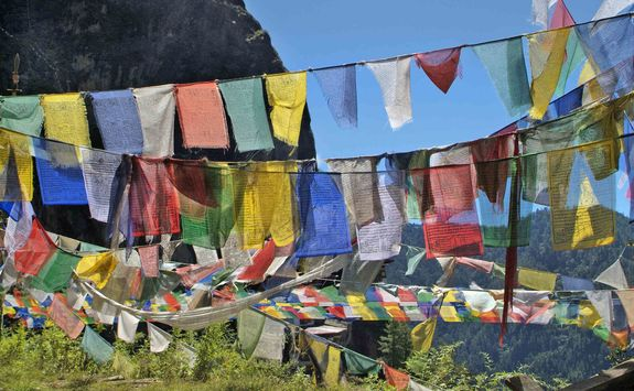 Prayer flags in the highlands