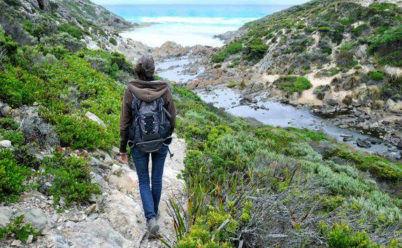 Woman hiking on Kangaroo Island