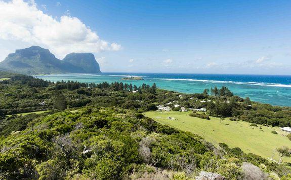 Lord Howe coastline