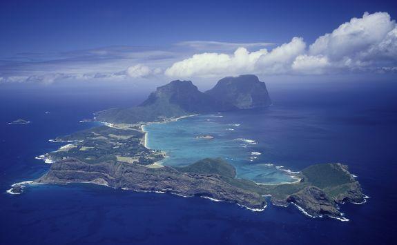 Lord Howe island aerial
